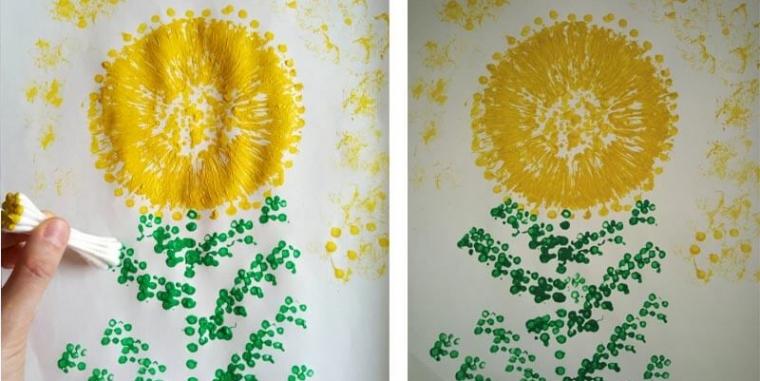 Kreativno oslikavanje maslačka